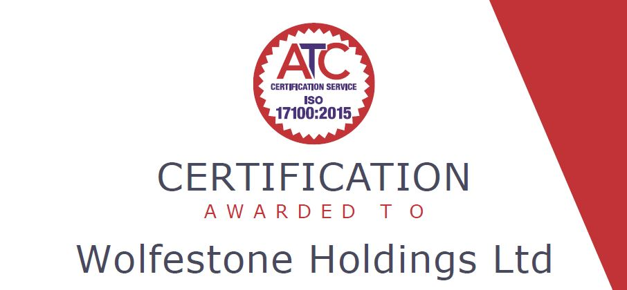 Wolfestone Holdings Achieves Highly Coveted Iso 171002015