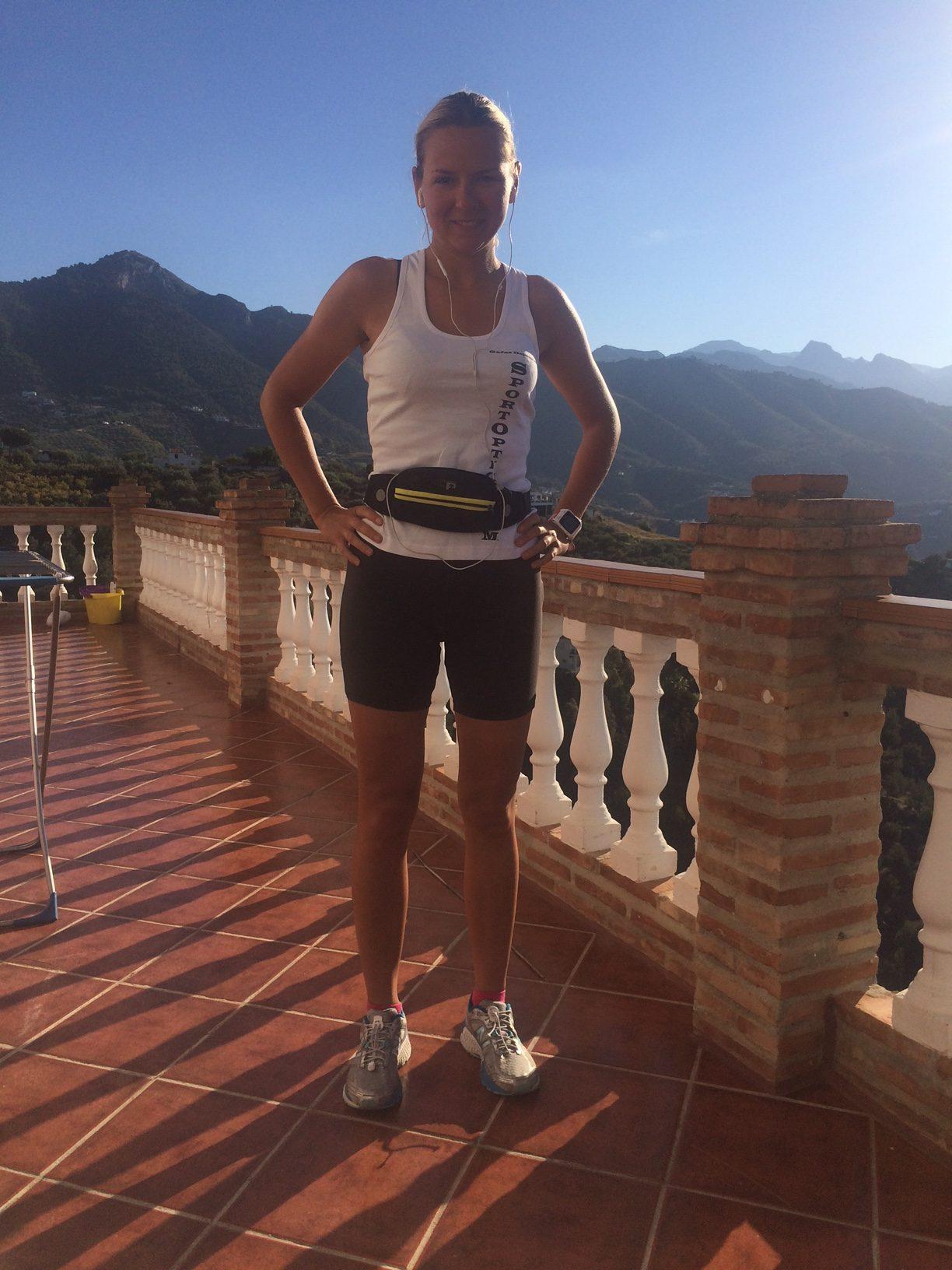 Anna Bastek running in Spain