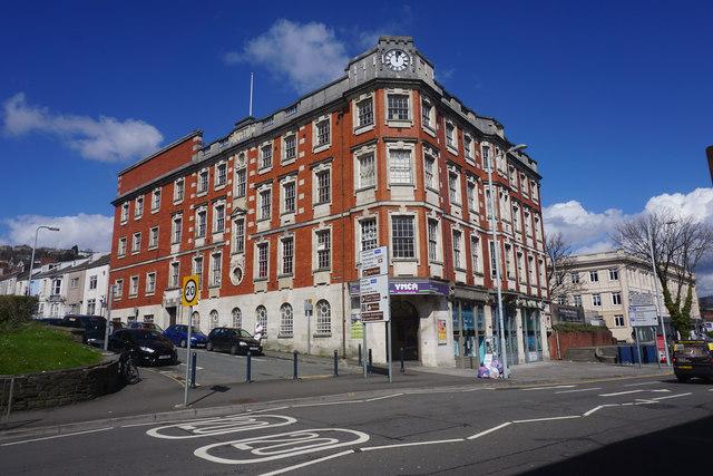 YMCA building in Swansea