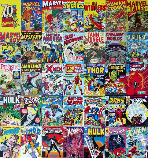 Collection of Marvel comics.