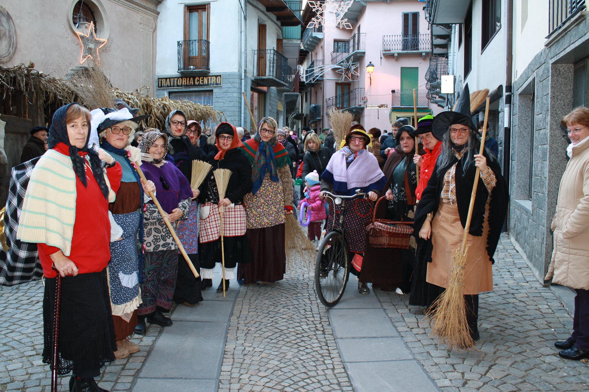 Italian ladies dressed up as La Befana