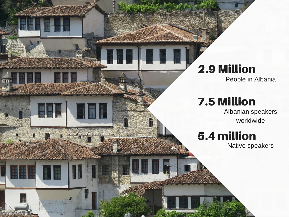 Statistics about Albania that explain the need for Albanian translation services.