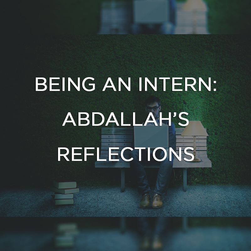Being an Inern: Abdallah's Reflections