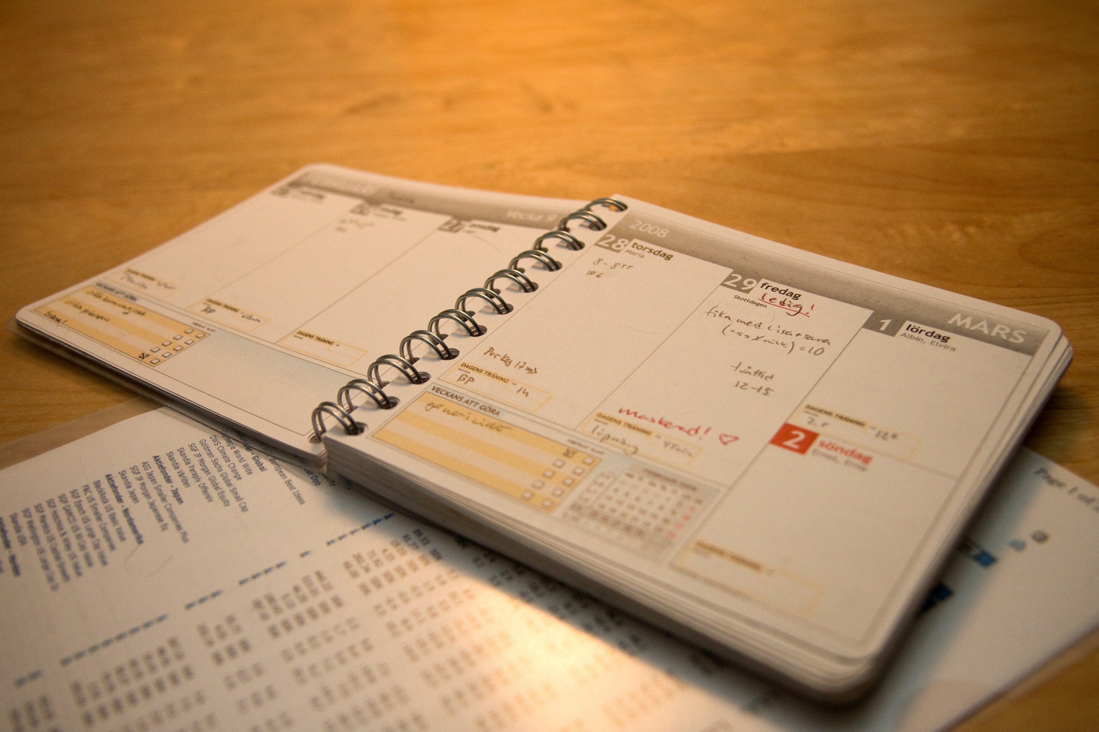 Language Ninja: What Makes a Good Translation? Photo of a wooden surface with an open diary
