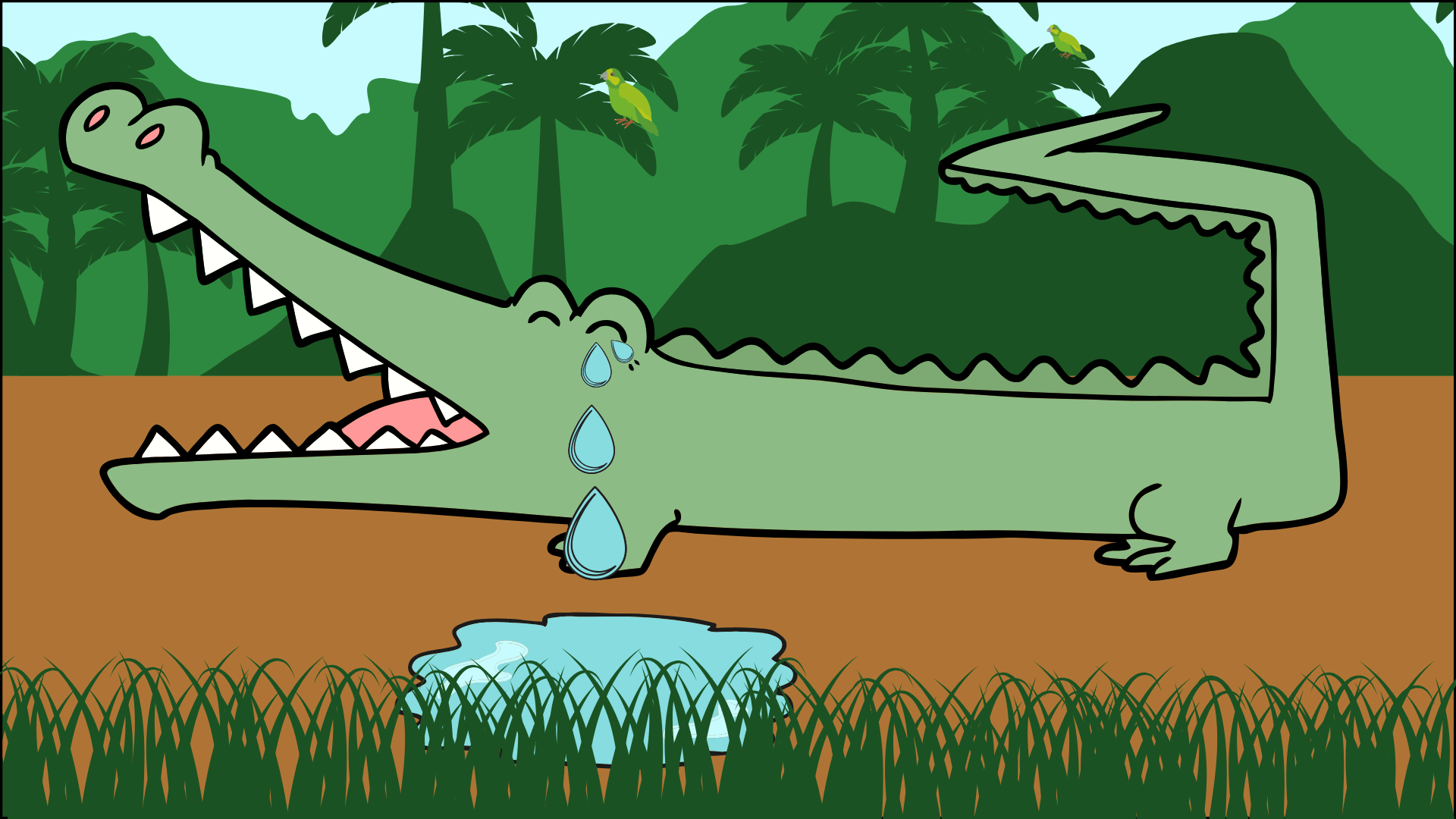 Crocodile crying