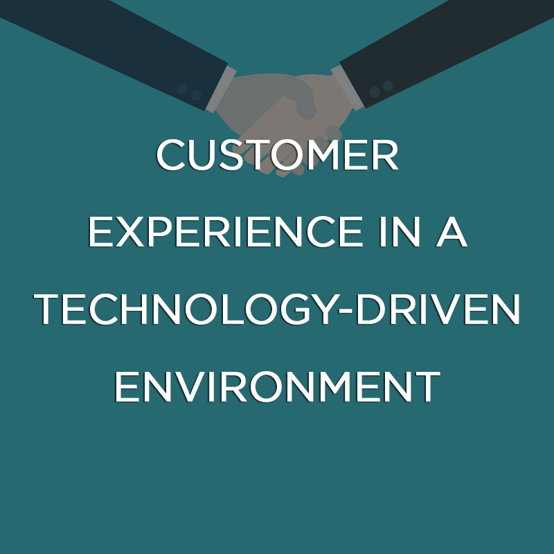 Customer experience in a technology-driven environment