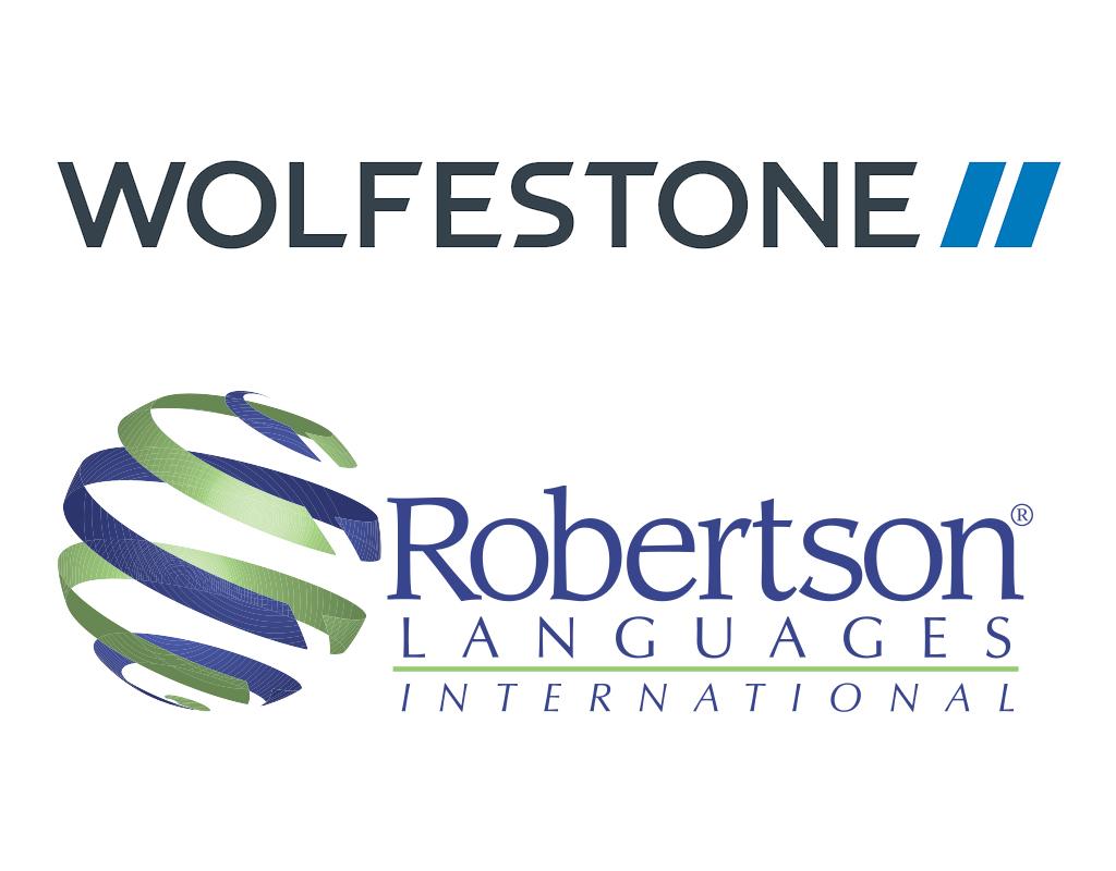 Image of Wolfestone and Robertson Languages International logos
