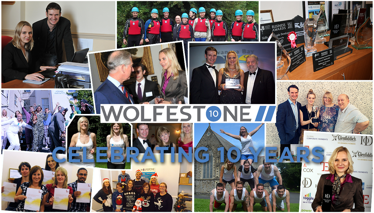 Collage of Wolfestone's 10 year history