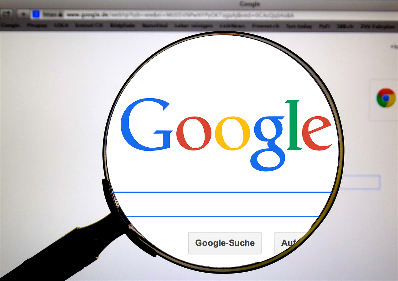 Google search in German to illustrate how to translate a web pate