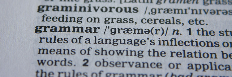 Definition of Grammar - Language