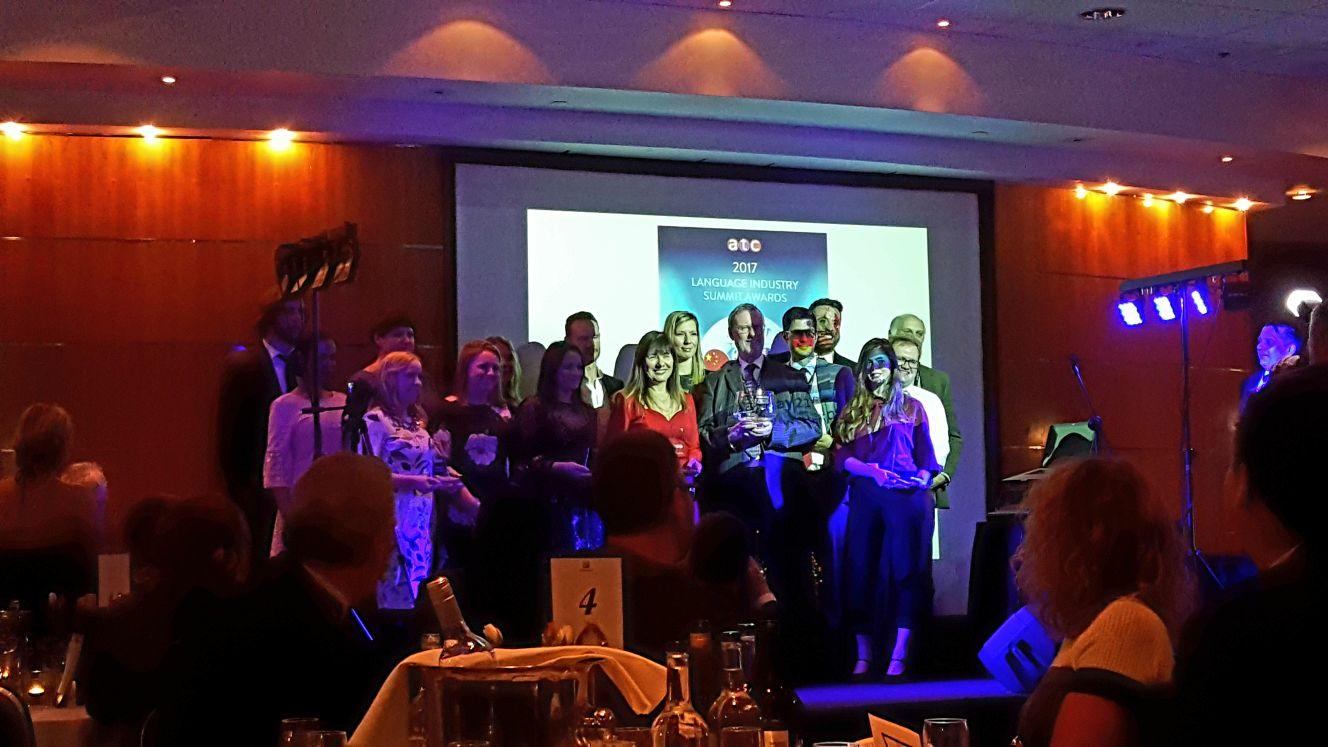 ATC 2017 award winners on stage