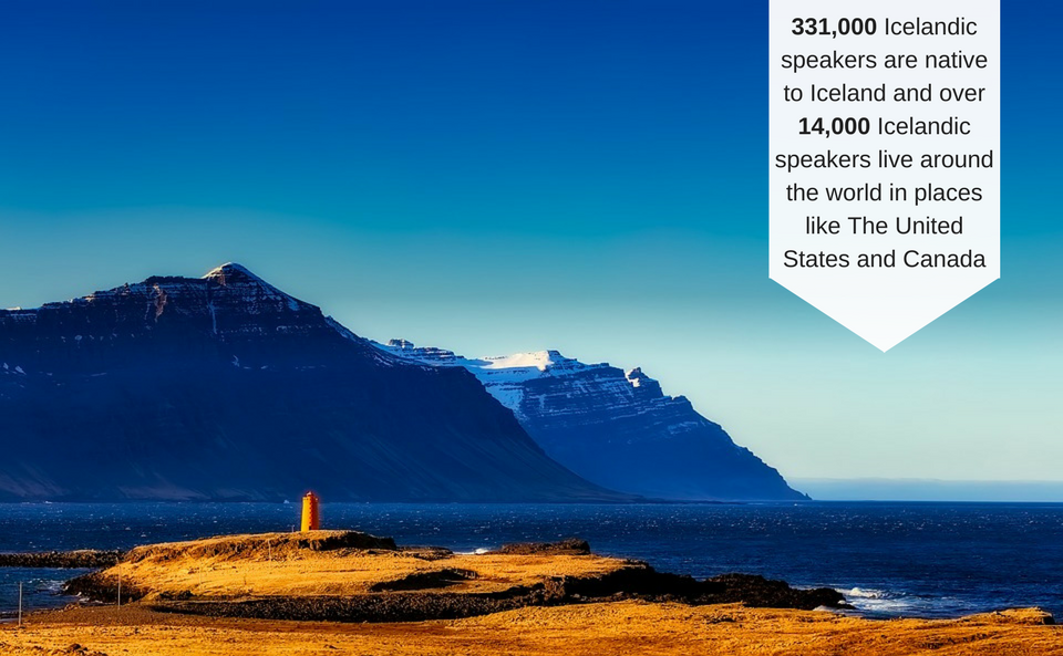 Stats about the Icelandic language that highlight the need for Icelandic translation services