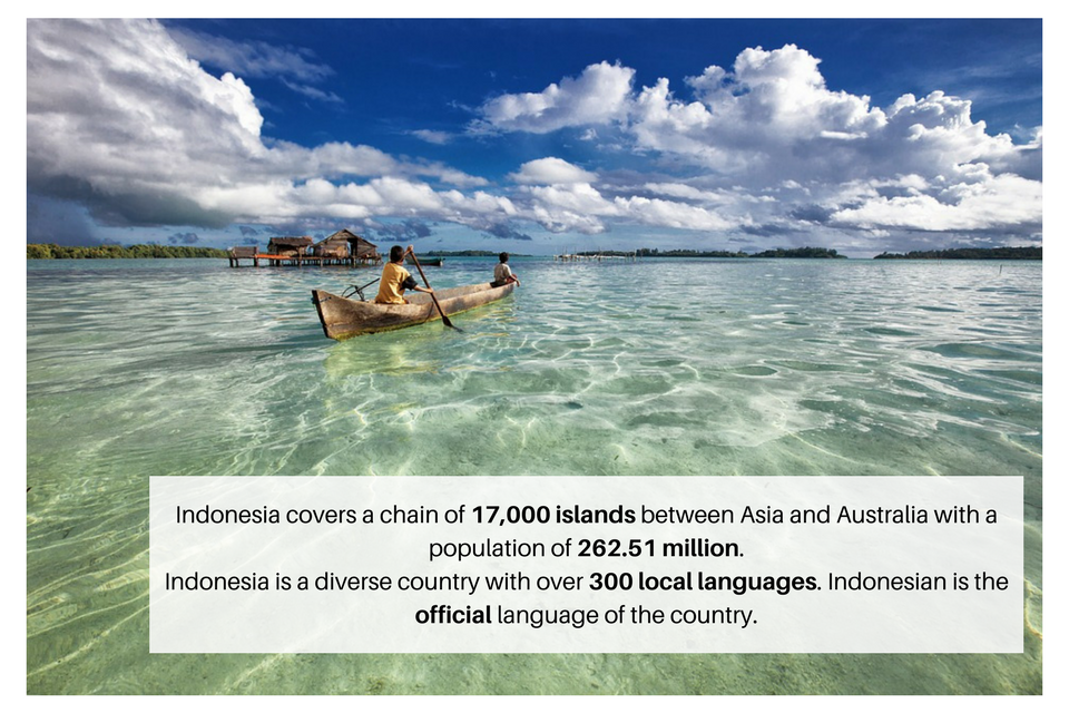 Stats about the Indonesian language which highlight the need for Indonesian translation services