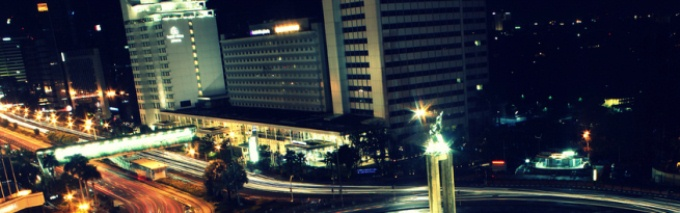 Indonesian translation services depicted by a picture of Kuala Lumpur by night