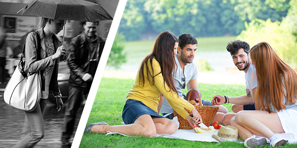 Rainy day or summer picnic, which do you prefer?