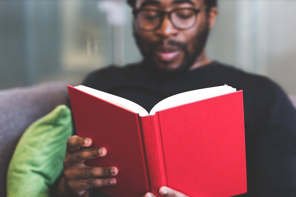 Image of a person reading