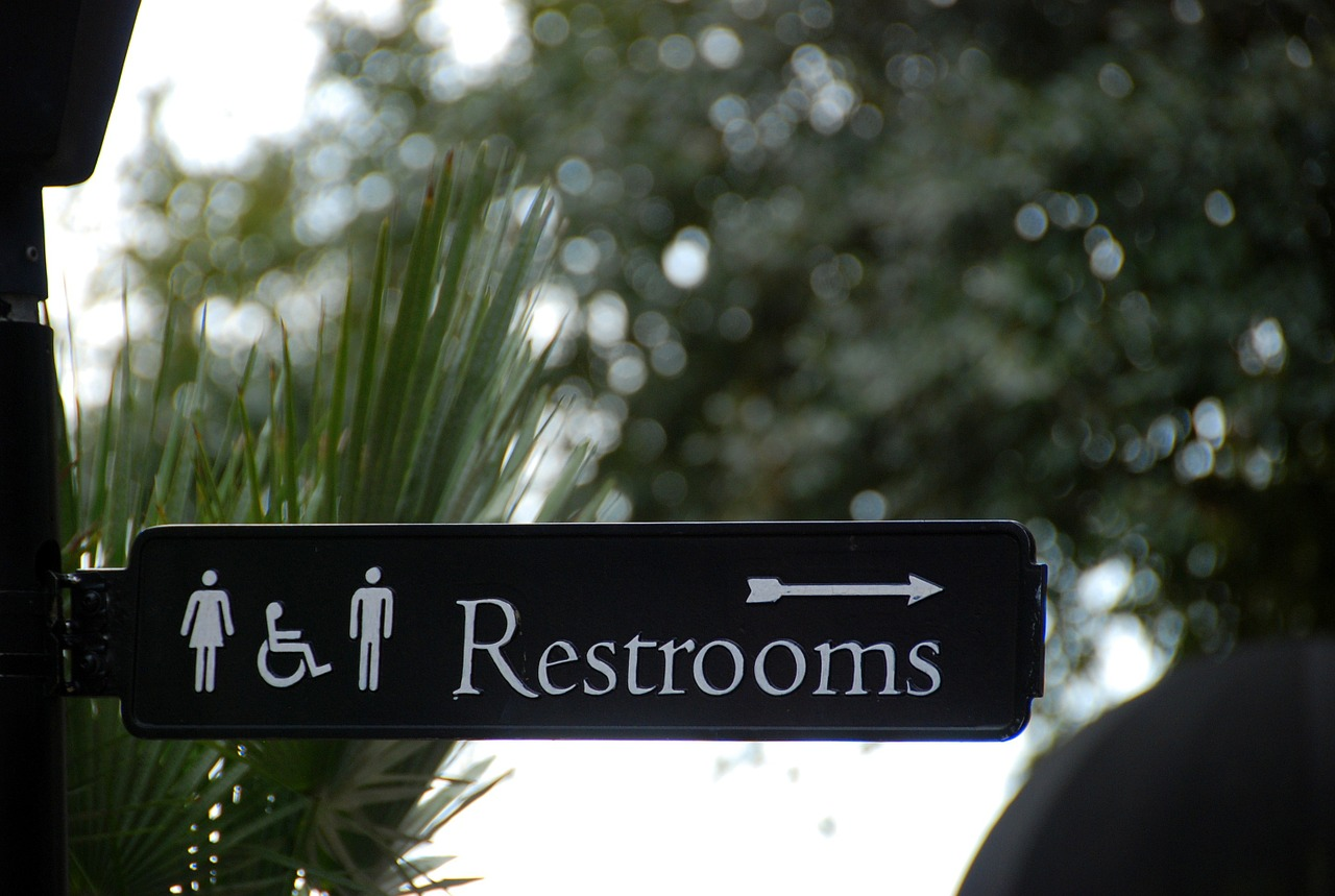 Restrooms are a situation to exploit to practice your foreign language skills