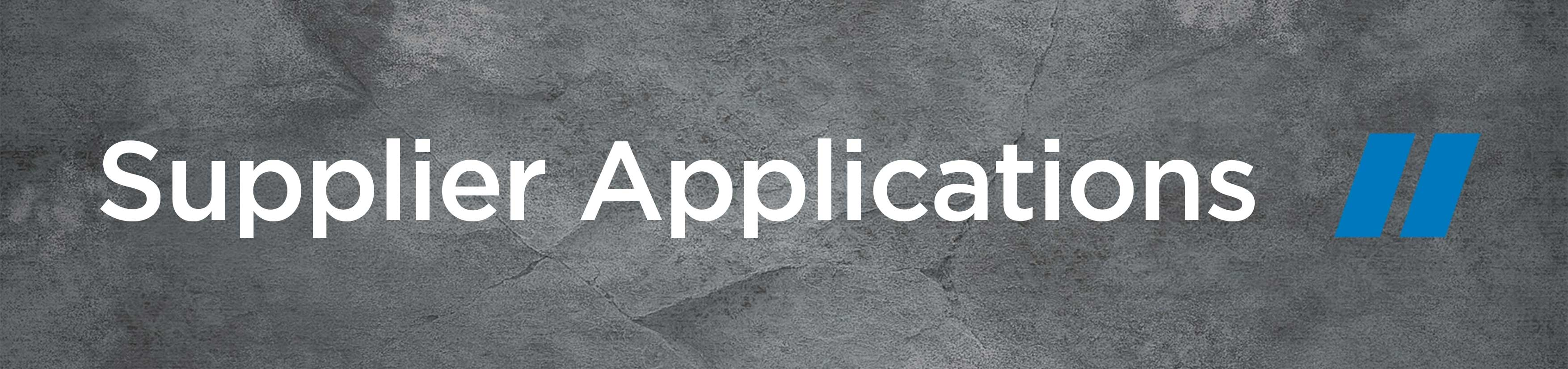 Supplier Applications
