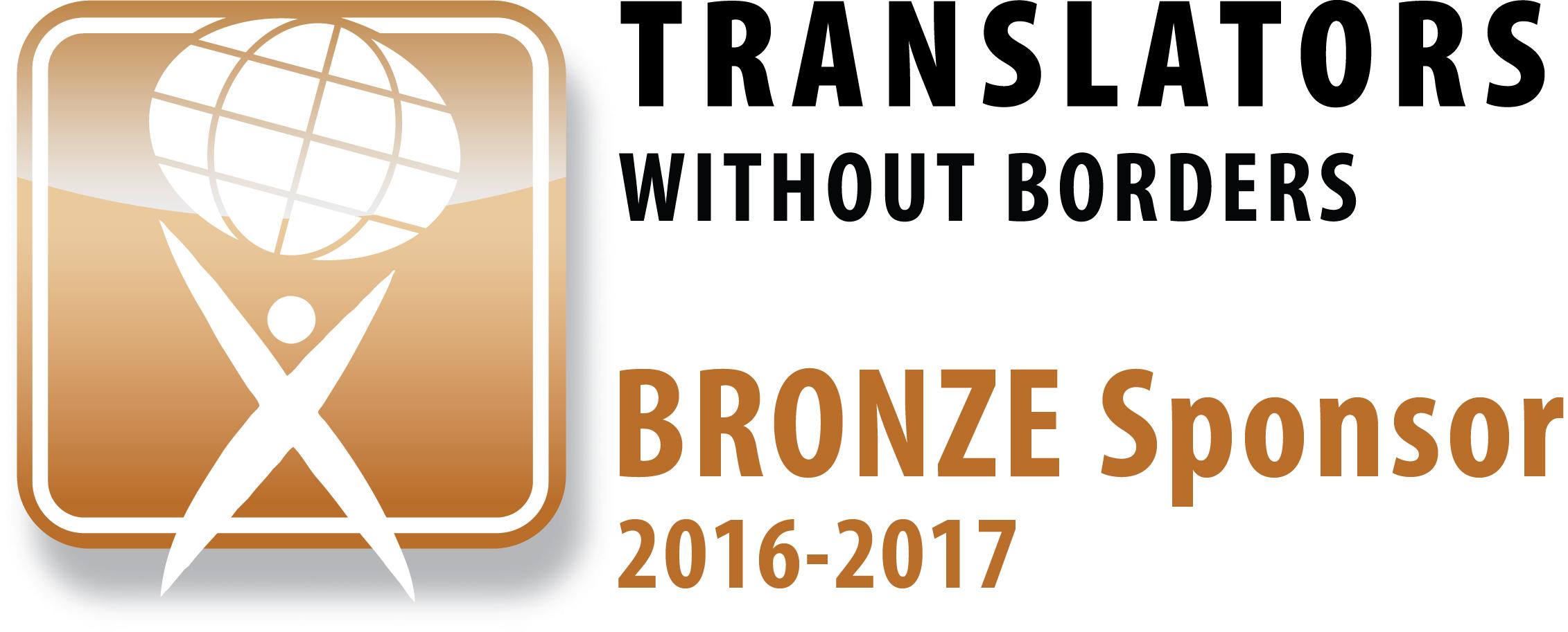 Translators without Borders Bronze Sponsor