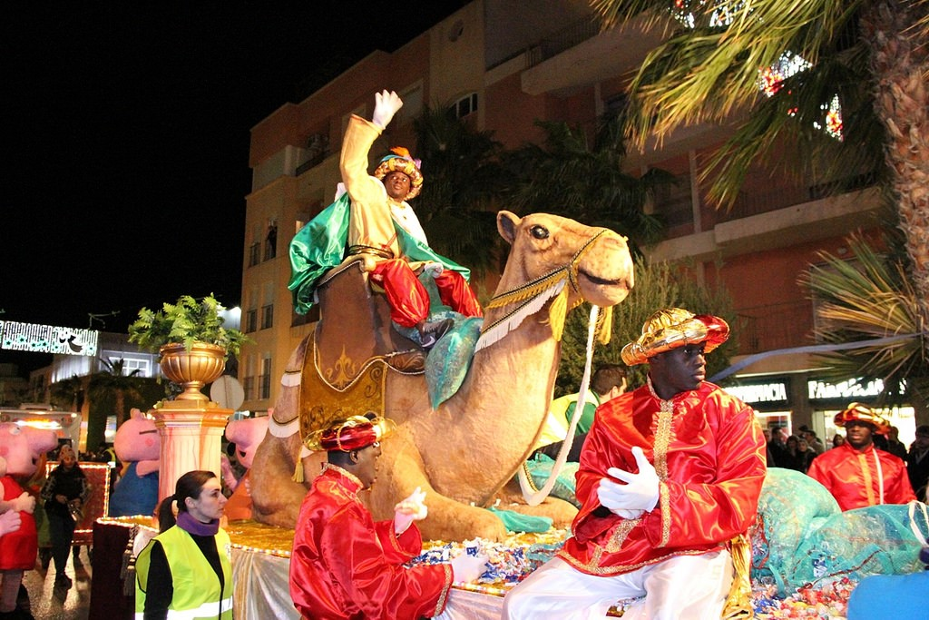 Image of the Three Wise Men in a Spanish festival.