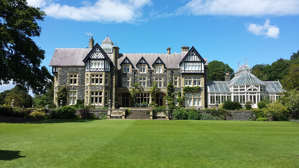 Typical country house popular in Welsh tourism