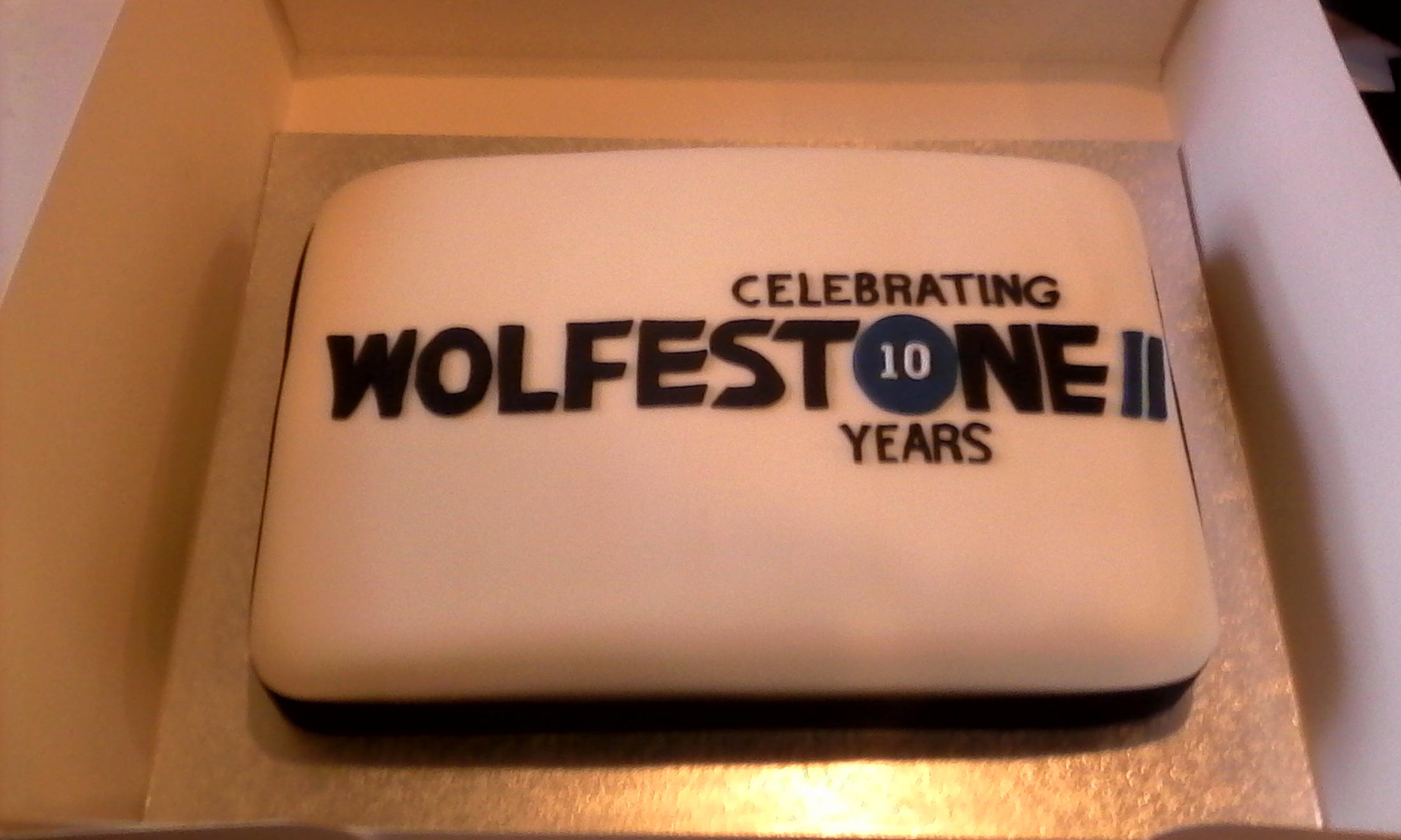 Wolfestone's 10 year cake