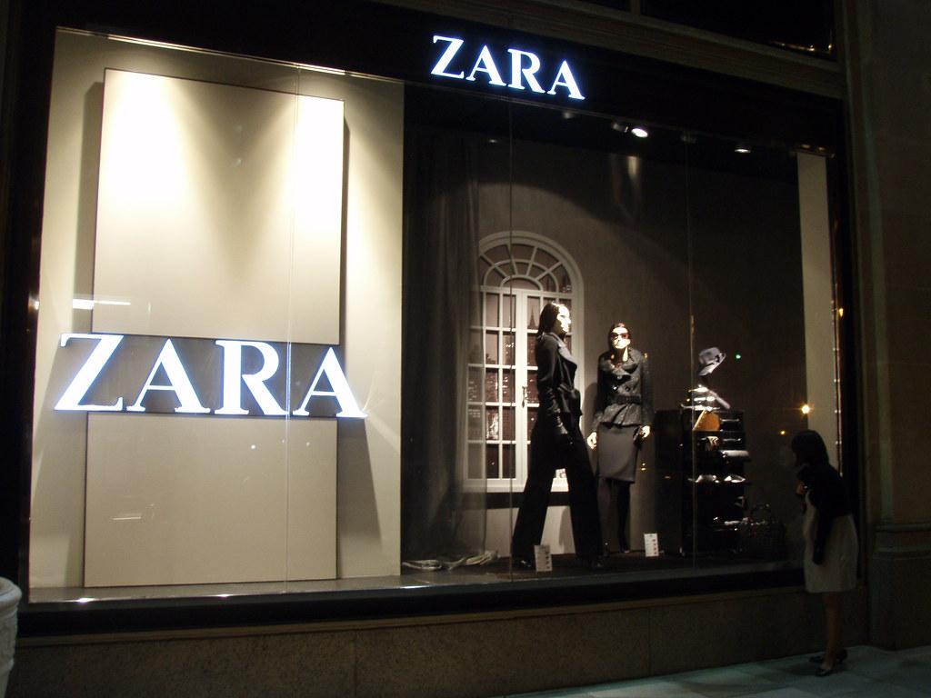 A window display for Zara, an international fashion brand