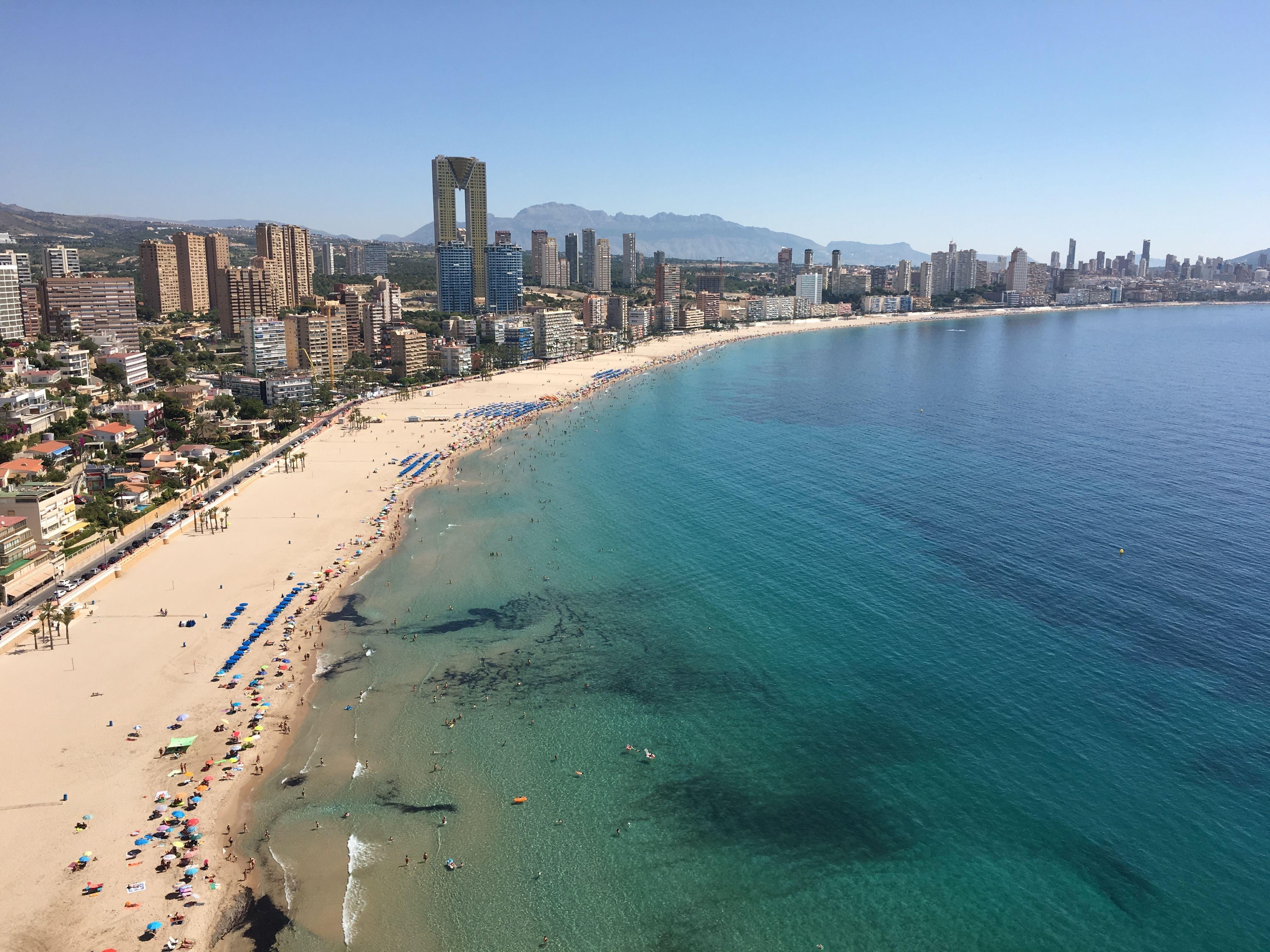 Benidorm, Spain, where UK expats speak Spanish in low numbers