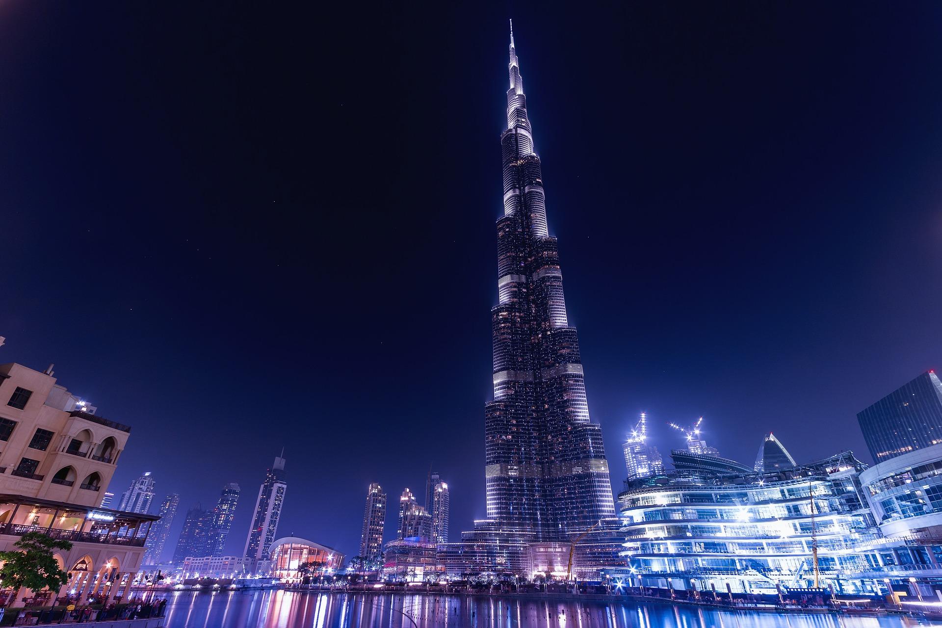 The Burj Khalifa, Dubai.