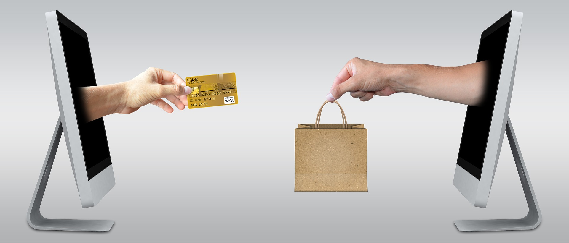 Image illustrating e-commerce/online transactions