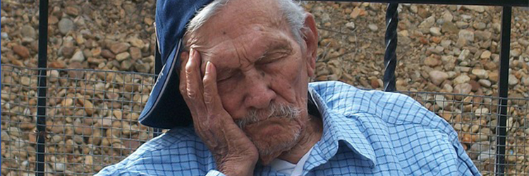 Endangered languages: sleeping man symbolising sleeping languages