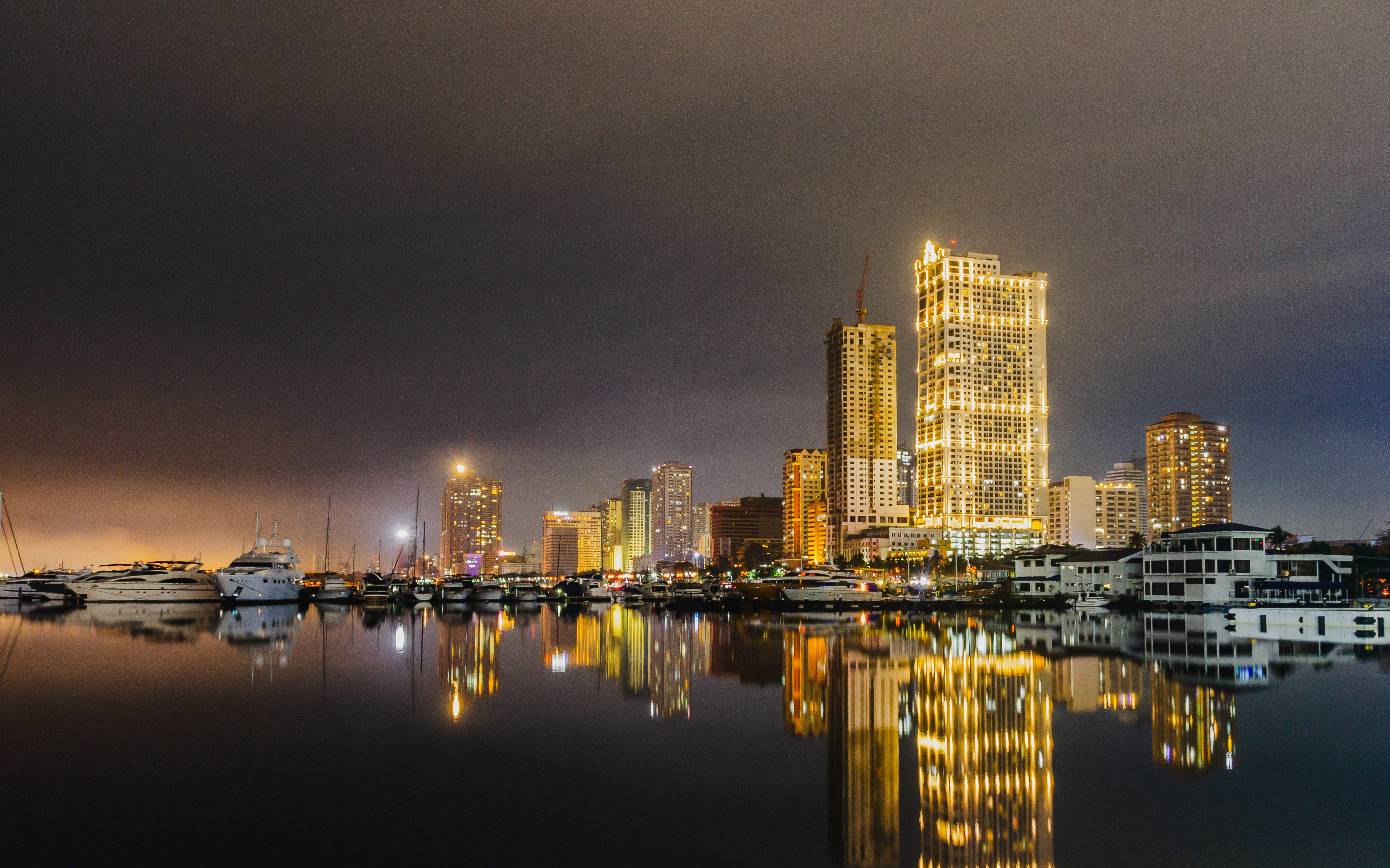 Manila Bay at night. The Philippines has huge economic potential.