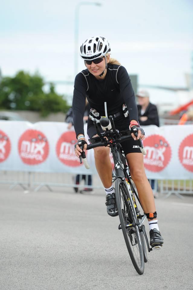 Anna Bastek Ironman bike