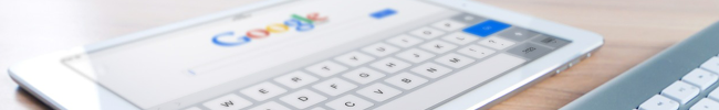 iPad with Google to represent technology and the need for multilingual SEO