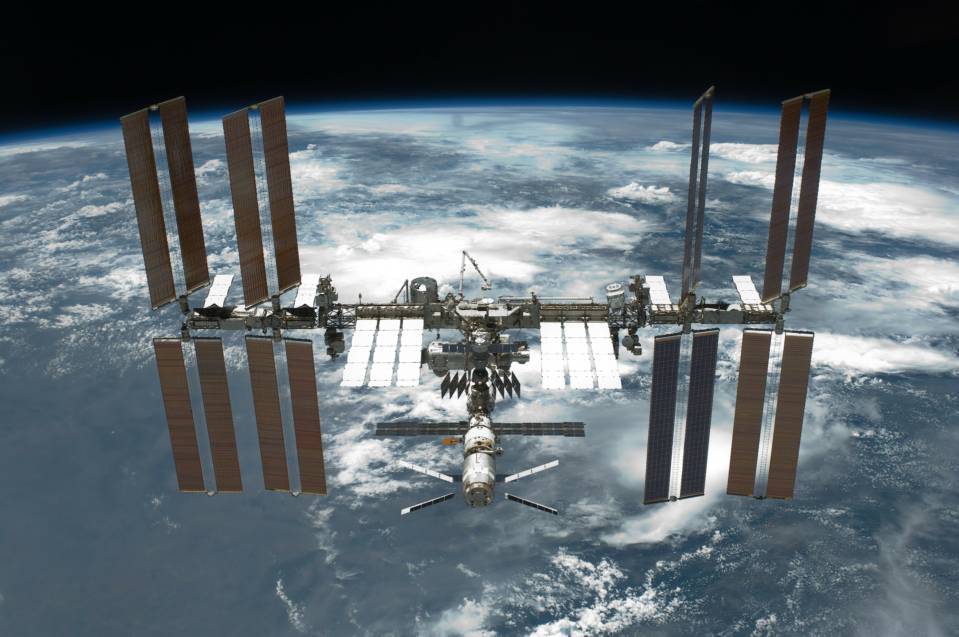The International Space Station, where Russian and English are the main languages