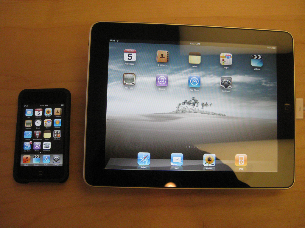 ipad and smartphone