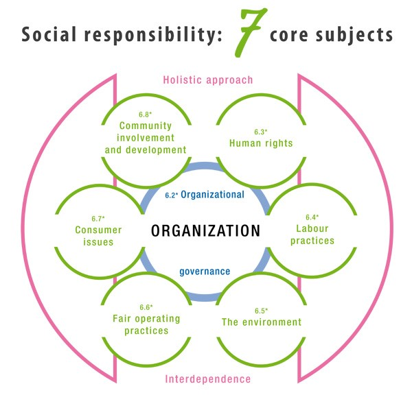Sustainable development: 7 core subjects of corporate social responsibility
