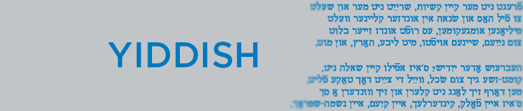 Yiddish language banner
