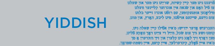 Yiddish language banner