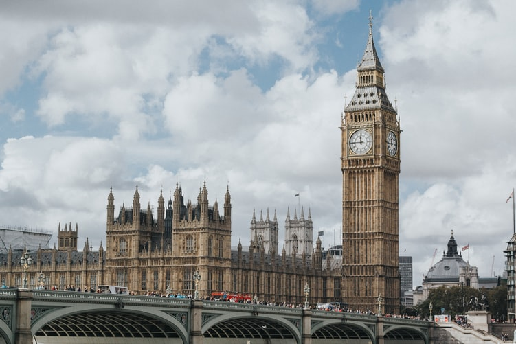 UK parliament landscape and Big Ben