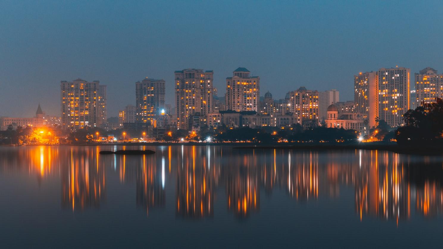 Skyline in Mumbai, India, where app translation works well