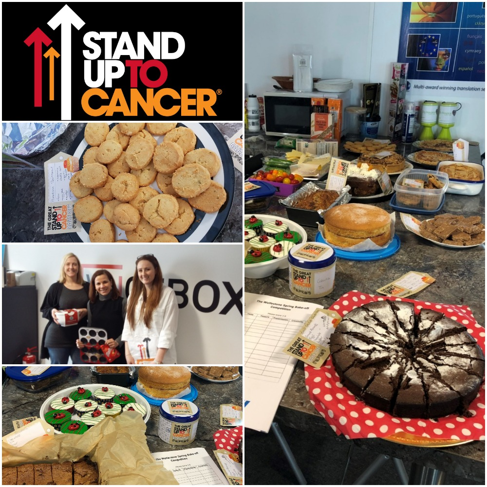 Wolfestone bake-off competition for stand up for cancer
