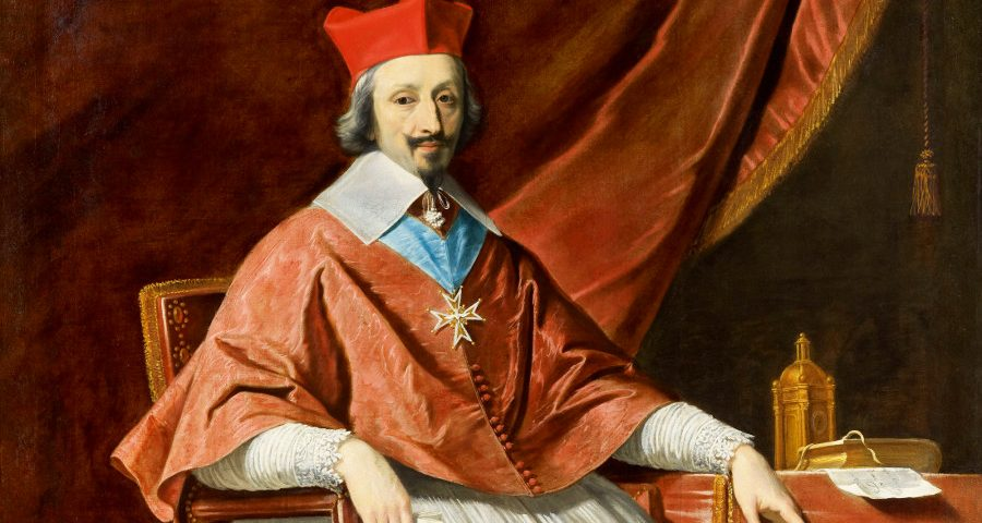 Cardinal Richelieu, founder of the Academie Francaise.