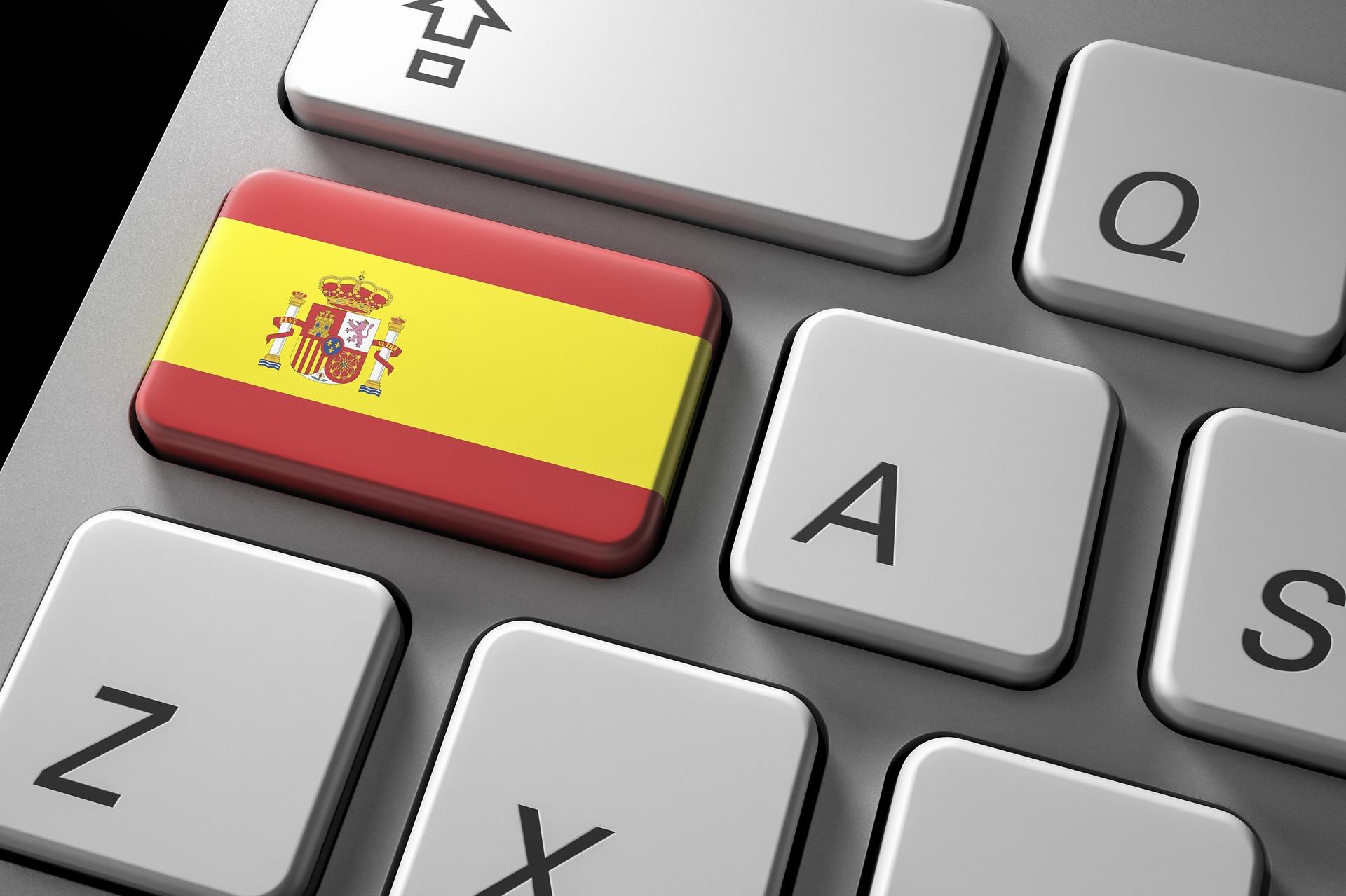 Spanish flag on keyboard