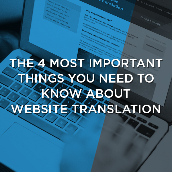 the 4 most important thing about website translation