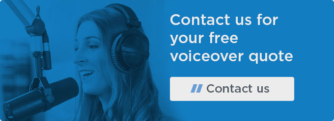 Contact us for your free voiceover quote